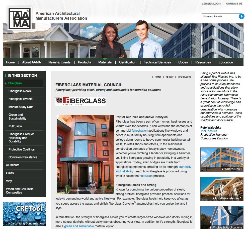 Heather West Pr Client News Kolbe Highlights Both: Heather West PR » Association News: AAMA's Fiberglass