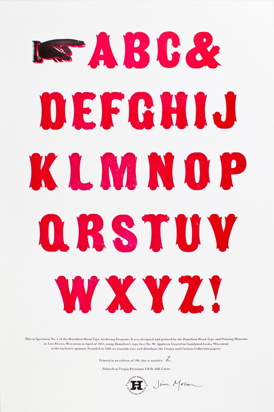 Typeface Specimen Sheet Series of Specimen Sheets
