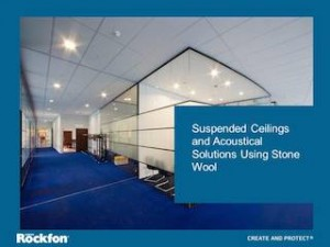 ROCKFON's AIA/CES Suspended Ceilings and Acoustical Solutions using Stone Wool