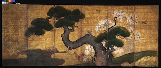 """Pine with Cherry Blossoms and Birds"" after conservation. Photo courtesy Studio TKM"